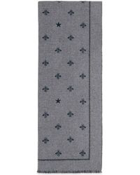 Gucci - Wool Scarf With Bees And Stars - Lyst
