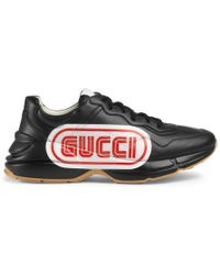 Gucci - Rhyton Leather Sneaker - Lyst