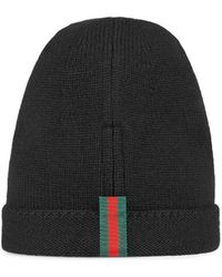 b9c9fa180ae Lyst - Gucci Gg Pattern Hat With Web Detail in White for Men