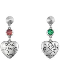 Gucci - Blind For Love Earrings In Silver - Lyst