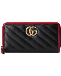 Gucci - GG Marmont Wallet - Lyst