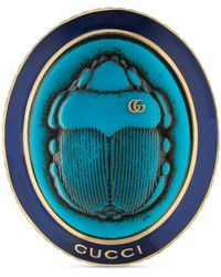 Gucci - Ring With Beetle Cameo - Lyst
