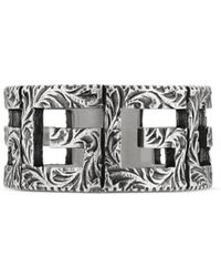 Gucci - Ring With Square G Motif In Silver - Lyst