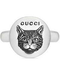Gucci - Blind For Love Ring In Silver - Lyst