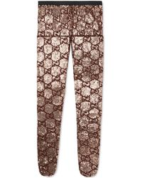 Gucci - Strumpfhose aus Pailletten mit GG Stickerei - Lyst
