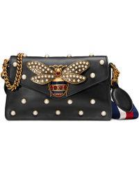 Gucci - Broadway Leather Clutch - Lyst