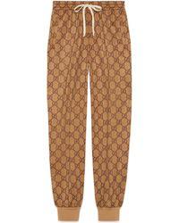 Popolare Gucci - Pantalone da jogging a stampa GG - Lyst c90b98c1097d