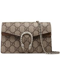 1066a18ebe2e Gucci - Beige Dionysus GG Supreme Super Mini Bag - Lyst
