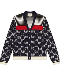 Gucci - Gg And Stripes Knit Cardigan - Lyst