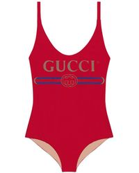 Gucci - Sparkling Swimsuit With Logo - Lyst