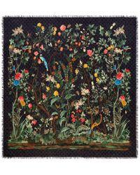 Gucci - Tian Print Modal Silk Shawl - Lyst