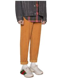 Gucci - Rhyton Web Print Leather Sneaker - Lyst