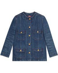 be8e8a4d896 Gucci - Veste oversize en jean - Lyst