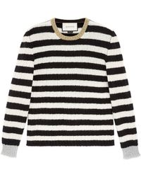 Gucci - Striped Merino Cashmere Knitted Top - Lyst