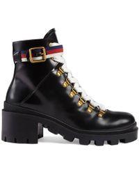 Gucci - Stivali In Pelle Spazzolata 60mm - Lyst