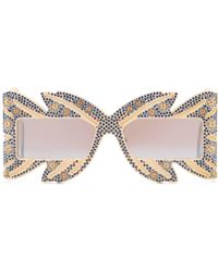 Gucci - Limited Edition Mask Sunglasses With Crystals - Lyst
