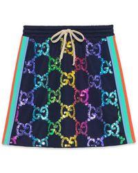 Gucci - Technical Jersey Sequin Skirt - Lyst