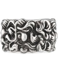 Gucci - Lion Mane Ring With Crystal - Lyst