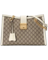 9e0282364 Gucci Padlock GG Supreme Shoulder Bag in Brown - Lyst