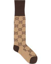 Gucci - Chaussettes en coton mélangé à motif GG - Lyst