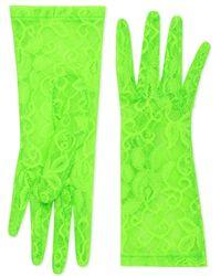 d19642e95625e6 Prada Exklusiv bei Mytheresa – Handschuhe aus Leder in Grün - Lyst