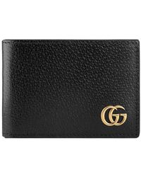 Gucci   Gg Marmont Leather Bi-fold Wallet   Lyst