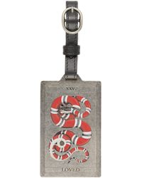 Gucci - Kingsnake Print Luggage Tag - Lyst