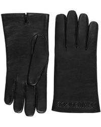 Gucci | Embossed Leather Gloves | Lyst