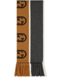 in vendita 42e31 3c0a5 Sciarpa con nastro GG - Grigio