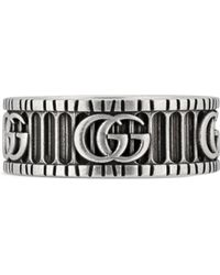 Gucci - Ring With Double G In Silver - Lyst