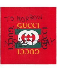 Gucci - Coco Capitán Print Modal Silk Shawl - Lyst