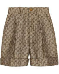 Gucci - Short en toile de laine GG - Lyst