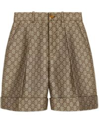 Gucci - Shorts aus GG Wollcanvas - Lyst