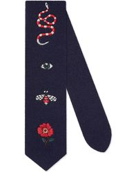 Gucci - Embroidered Wool Tie - Lyst