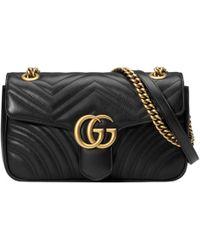 Gucci - Bolso de Hombro GG Marmont Pequeño de Matelassé - Lyst