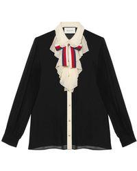 Gucci - Silk Georgette Shirt - Lyst