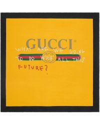 Gucci - Coco Capitán Logo Silk Scarf - Lyst