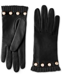 Gucci - Studded Leather Gloves - Lyst