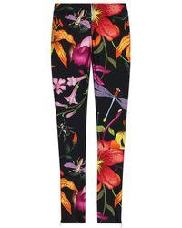 Gucci - Macro Flora Jersey leggings - Lyst