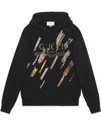 Gucci - Sweat à broderies de sequins - Lyst