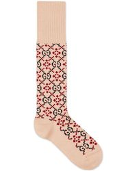 Gucci - GG Diamond Cotton Socks - Lyst