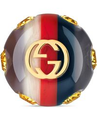 Gucci - Sylvie Vintage Web Ring - Lyst