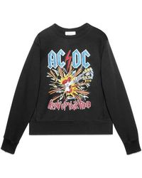 Gucci   Cotton Sweatshirt With Ac/dc Print   Lyst