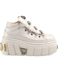 5fd0c16b6a4e1 Gucci - Zapatillas de piel con plataforma - Lyst