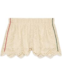 Gucci - Shorts in pizzo floreale - Lyst
