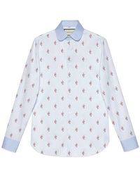 Gucci - Kingsnakes Fil Coupé Oxford Shirt - Lyst
