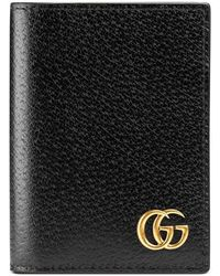 Gucci - GG Marmont Leather Card Case - Lyst