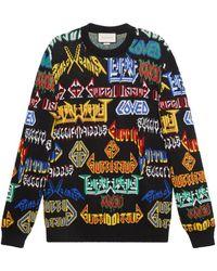 Gucci - Metal Mix Wool Sweater - Lyst