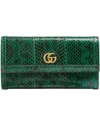 5306784fade Lyst - Gucci Logo Leather Zip Around Wallet in Pink