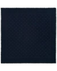 Gucci - Wool Silk Scarf With Bees And Stars - Lyst